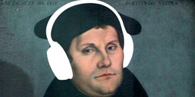 Cranach 1528 'Luther' mit 'Köpfhörer